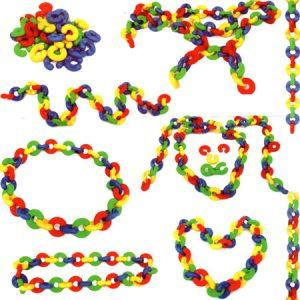 Anillos de Colores para Enlazar, juego de motricidad fina