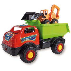 Camión Goliat y Retroexcavadora, juguete para la coordinación óculo-manual
