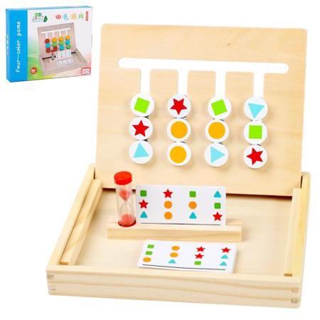 Cuatro colores, juego Montessori, juego para el desarrollo cognitivo