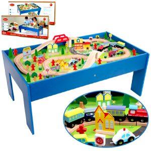 Tren de madera, juego para el desarrollo psicomotor