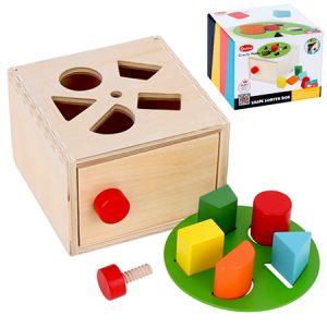 Cubo de encaje y clasificación de madera