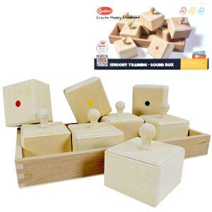Cajas de entrenamiento sensorial hechas en madera