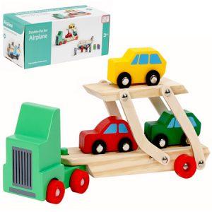 Camión de madera para transportar autos