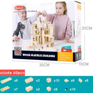 Circuito de canicas juego de ingenio de madera
